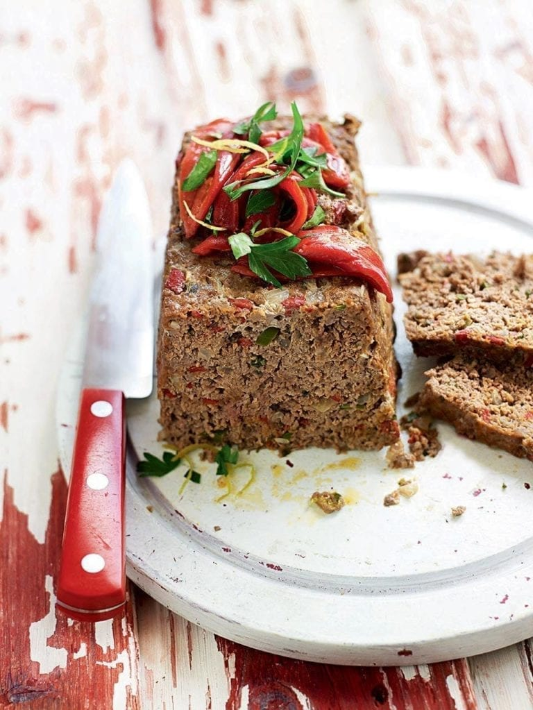 Chilli and pepper meatloaf