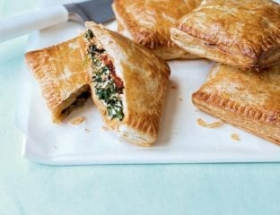 Cheat's vegetable and ricotta pasties