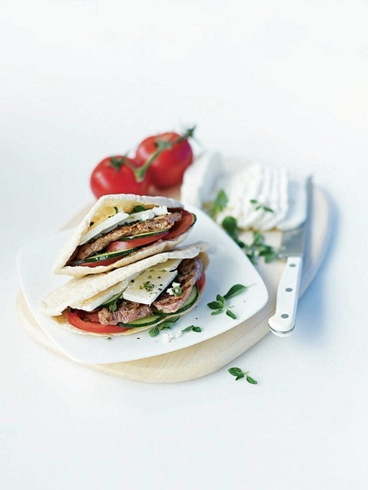 Greek lamb pittas