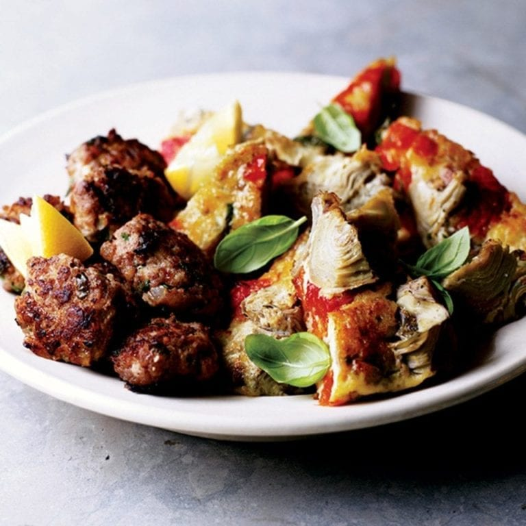 Cheese 'polpette' with lemon