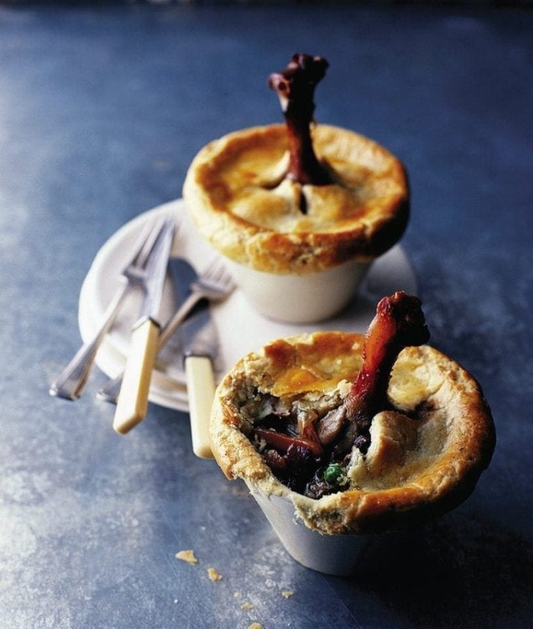 Roast duck pies