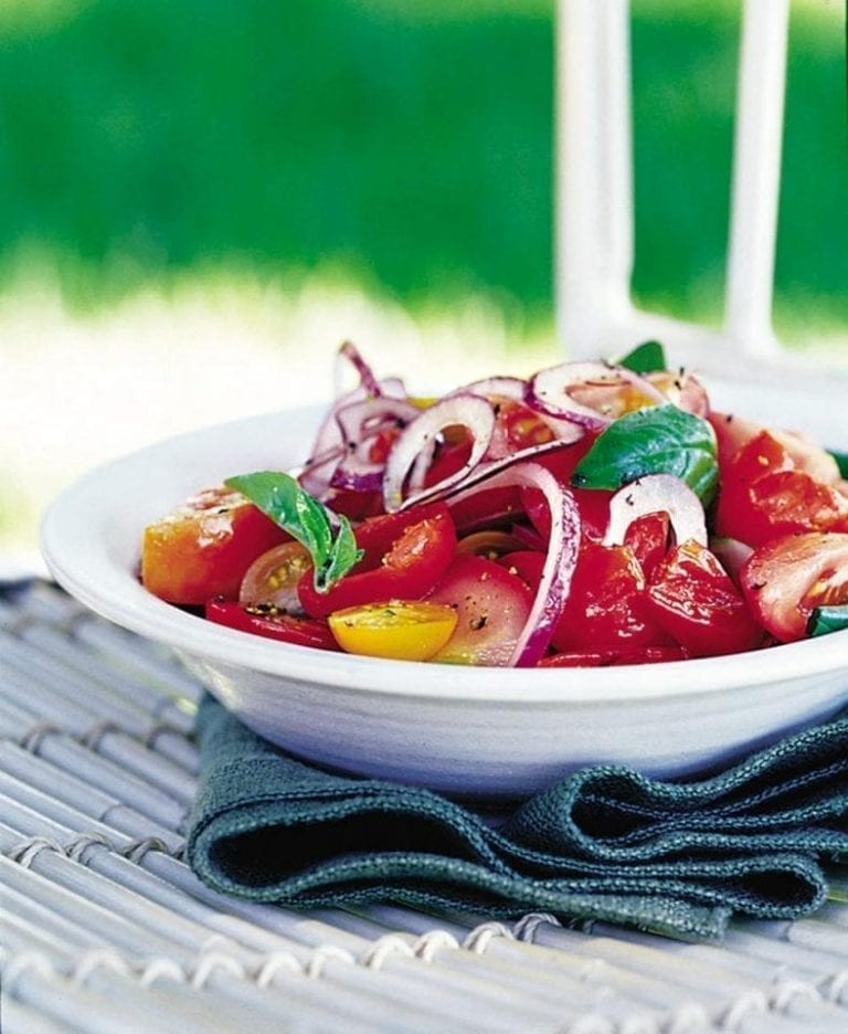 Tomato and sweet pickled pepper salad