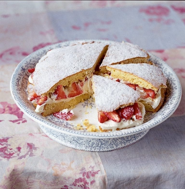 Strawberry and vanilla shortcake