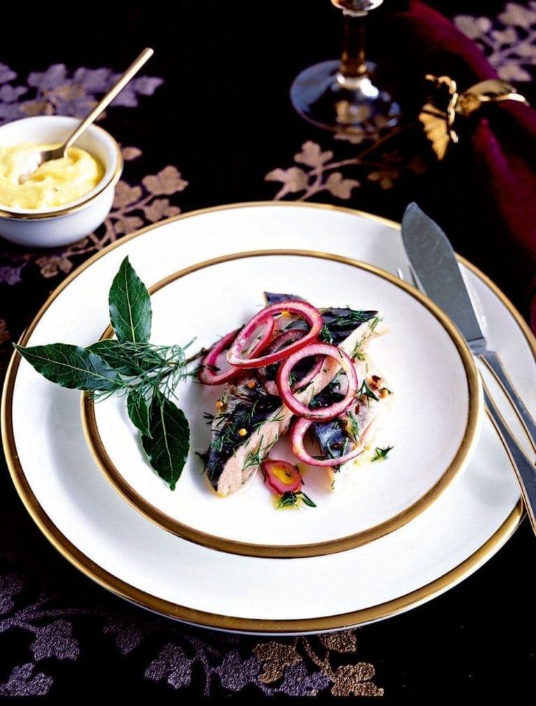 Marinated mackerel with spiced aioli