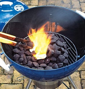 How to cook on a charcoal barbecue