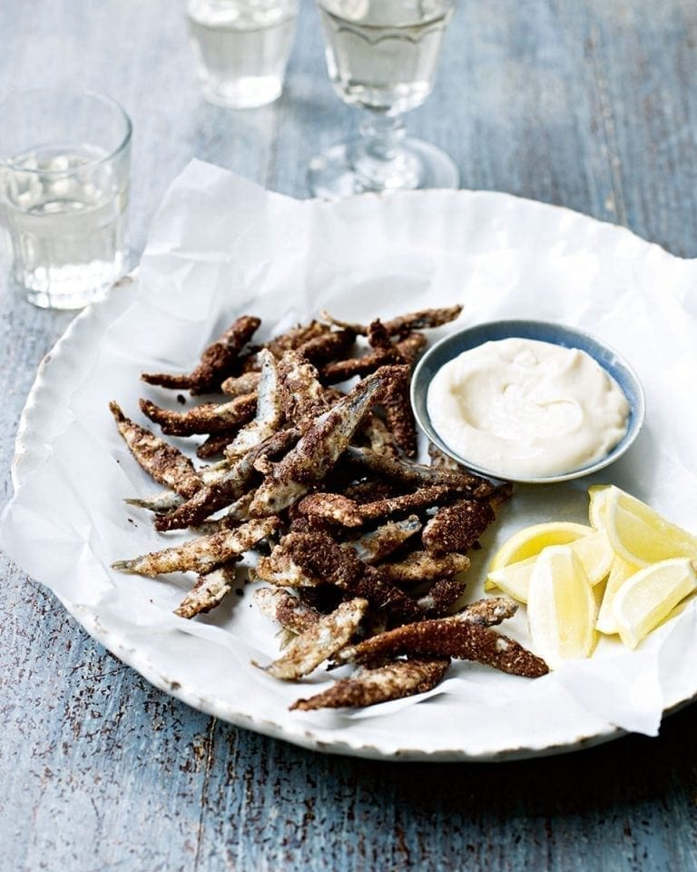 Five-spice dusted whitebait
