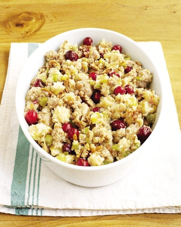 Sausage, pear and cranberry stuffing