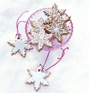 Iced gingerbread tree decorations video recipe