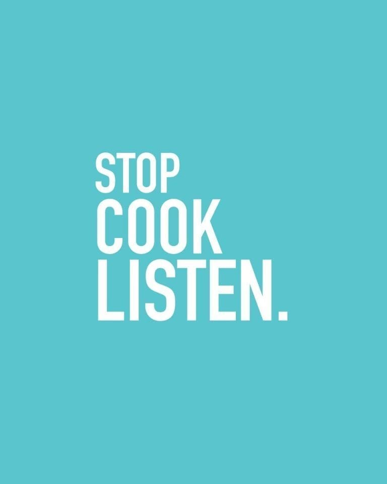 Stop, Cook, Listen: the delicious. campaign
