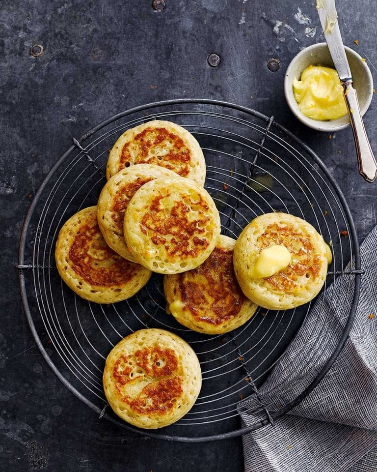 How to make crumpets video recipe | delicious. magazine