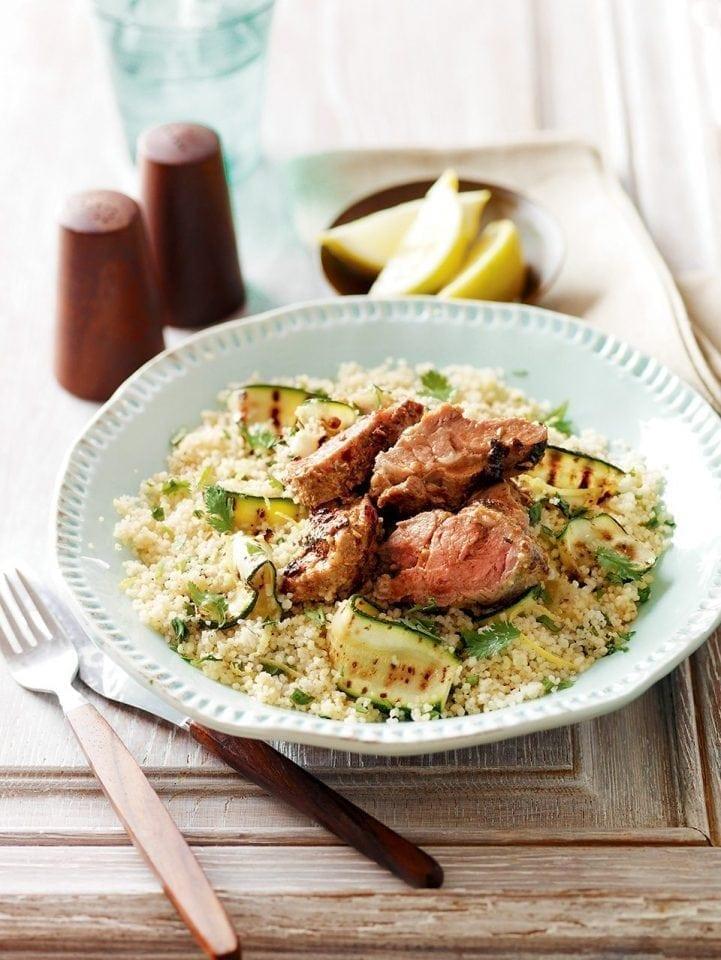 Moroccan lamb with lemon couscous