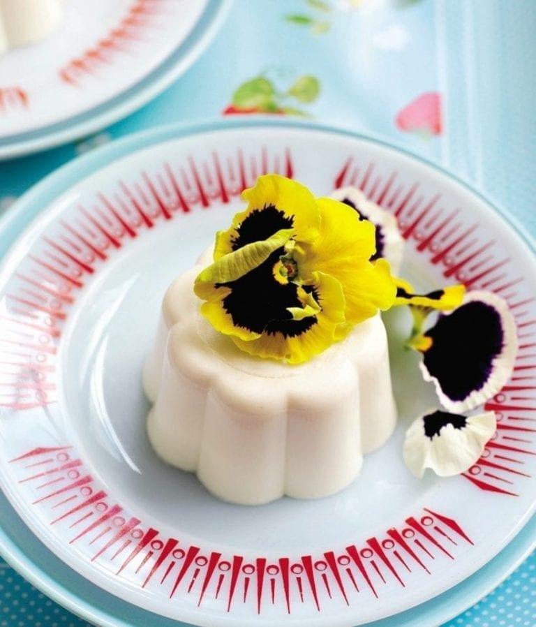 Creamy lemon blancmange