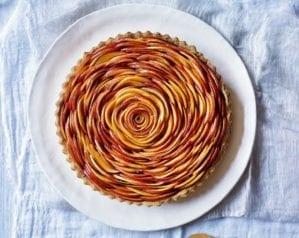 Nectarine rose tart video recipe