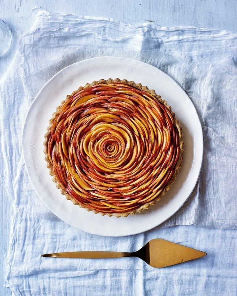 Nectarine rose tart video recipe