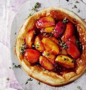 Quick peach tarte tatin video recipe