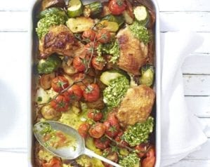 Easy chicken traybake video recipe