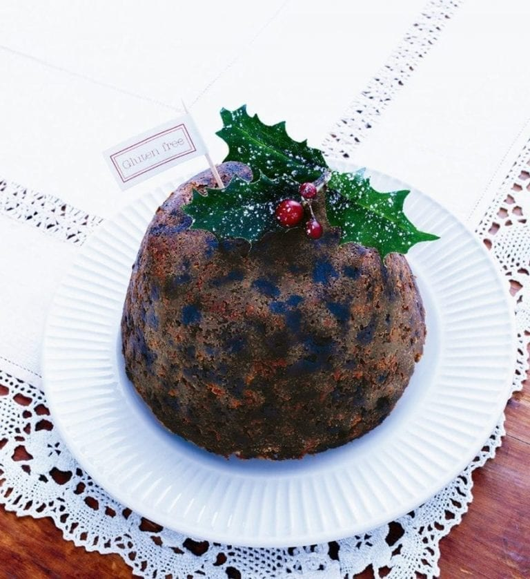 Gluten-free and dairy-free Christmas pudding