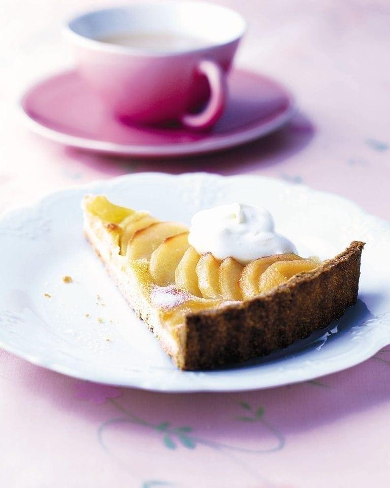 Pear and frangipane tart