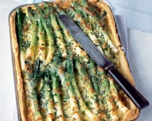 Creamy leek, potato and gruyère tart video recipe