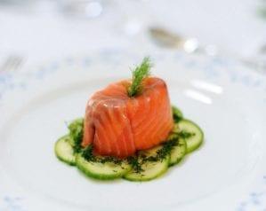 Individual smoked salmon terrine video recipe