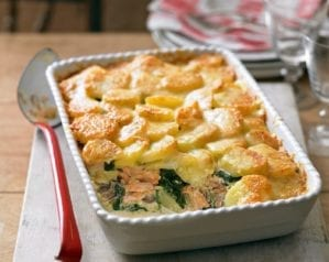 Salmon and potato bake video recipe