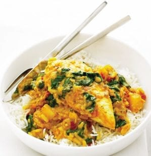 Chicken and spinach curry video recipe