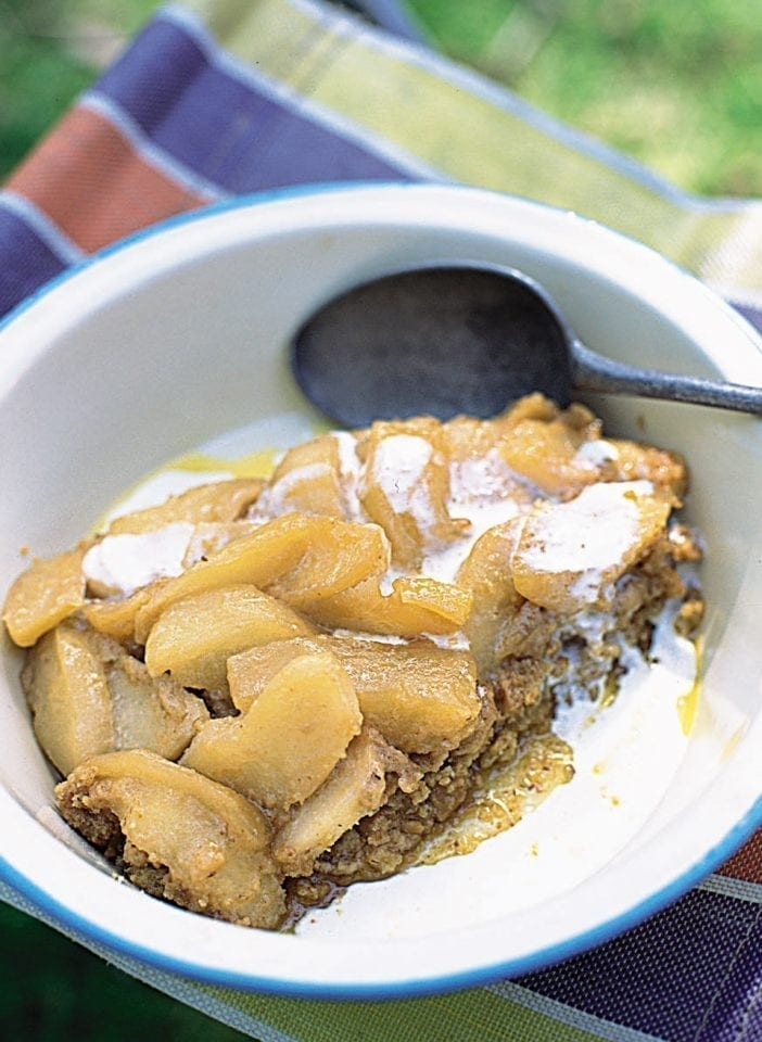 No-bake sticky toffee apple tart
