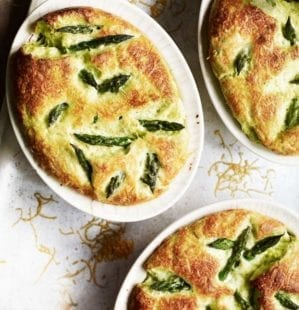 Asparagus and gruyère soufflés recipe video