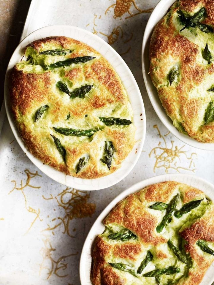 Asparagus and gruyère soufflés recipe video