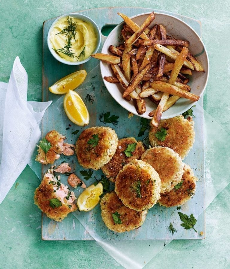 Hot-smoked salmon fishcakes recipe video