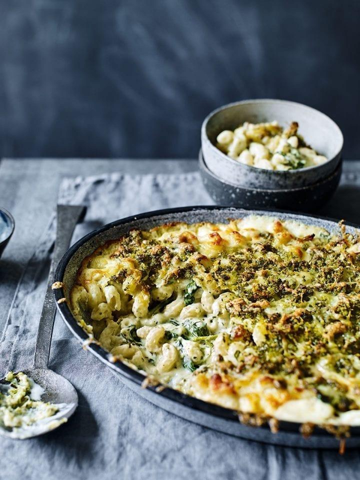 Pesto macaroni cheese recipe video