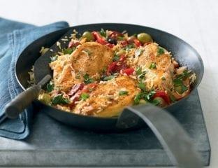Cheat's chicken paella