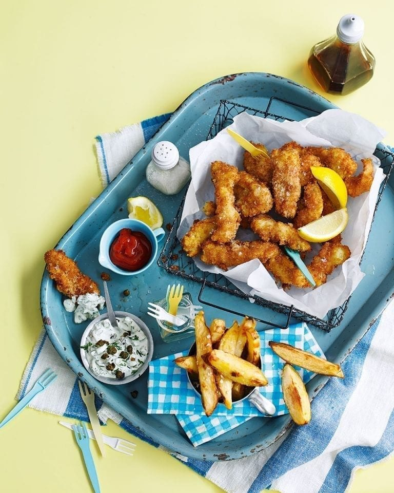 How to make deep-fried scampi