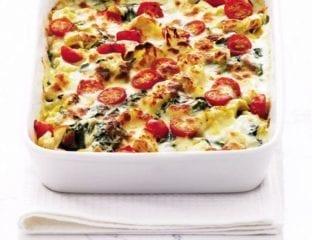 Cheat's cauliflower tortelloni cheese