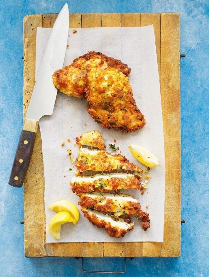 Quick chicken schnitzels