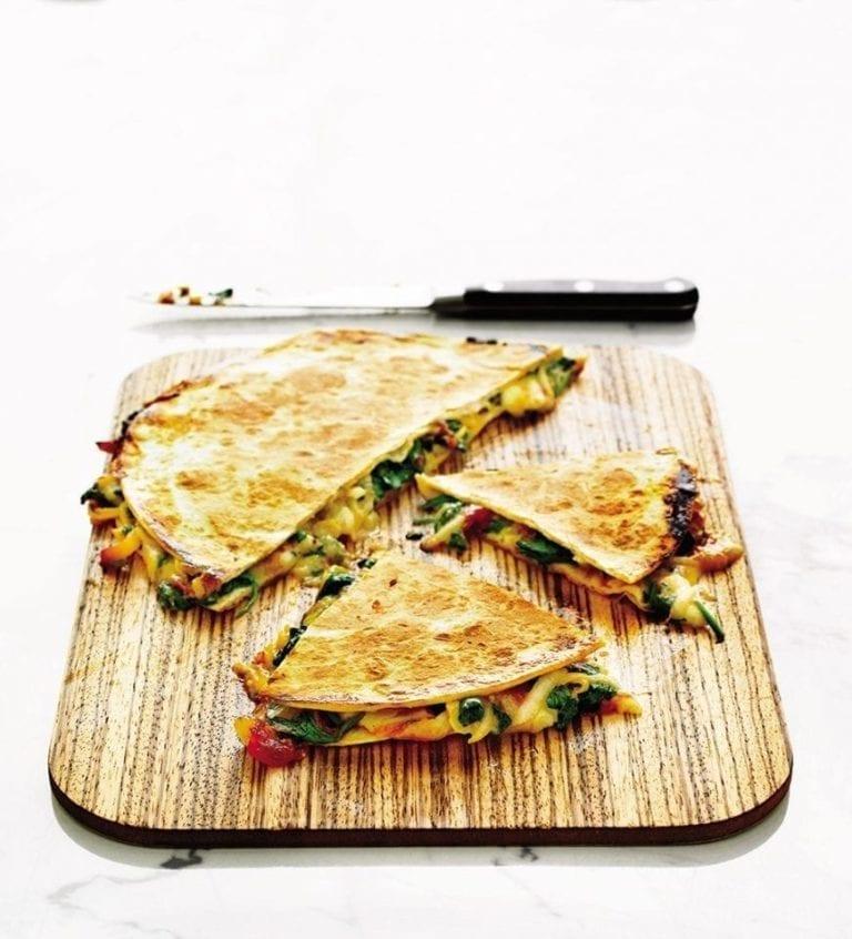 Quick vegetarian quesadillas