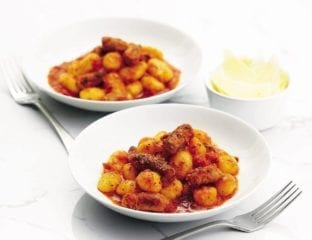 Quick sausage and tomato gnocchi