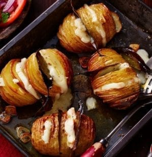 How to make hasselbacks with taleggio – video