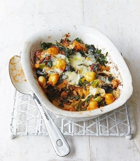 Sausage and kale gnocchi bake video