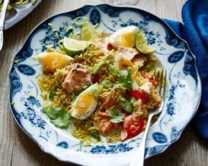 Salmon and egg kedgeree – video