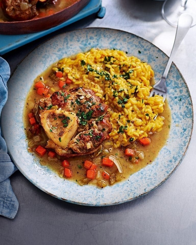 How to make osso buco with saffron risotto