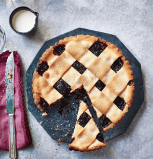 How to make a lattice pie topping
