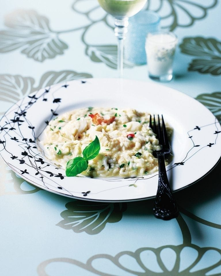 Easy crab risotto