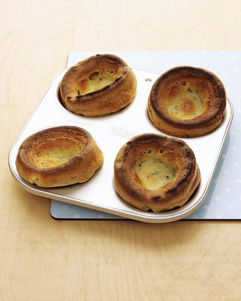 Thyme and mustard Yorkshire puddings