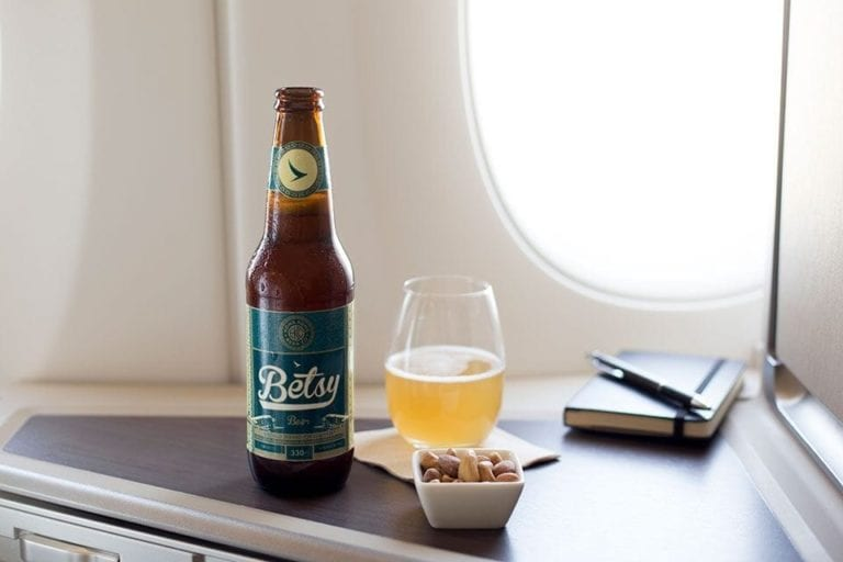 The beer brewed for 35,000ft