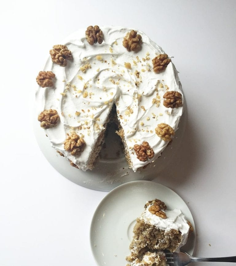 How to make Mary Berry's frosted walnut layer cake