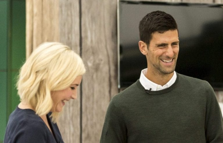 Meeting Novak Djokovic at Wimbledon