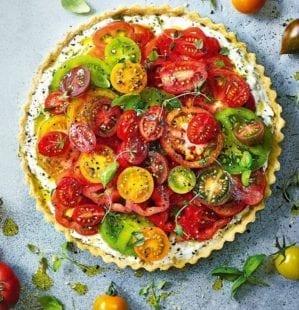 Tomato, thyme and ricotta tart – video