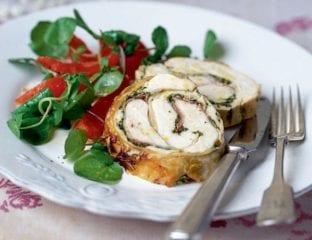 Italian-herbed roast chicken