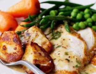 White gravy for roast poultry